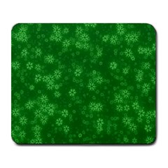 Snow Stars Green Large Mousepads by ImpressiveMoments