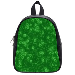 Snow Stars Green School Bags (small)  by ImpressiveMoments