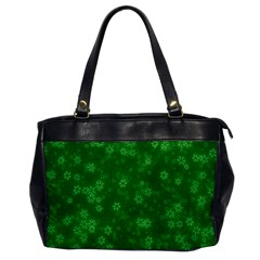 Snow Stars Green Office Handbags by ImpressiveMoments