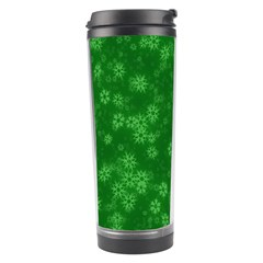 Snow Stars Green Travel Tumblers by ImpressiveMoments