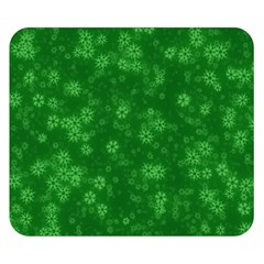 Snow Stars Green Double Sided Flano Blanket (Small)  by ImpressiveMoments