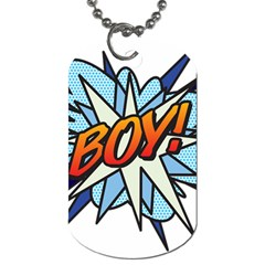 Comic Book Boy! Dog Tag (two Sides) by ComicBookPOP