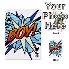 Comic Book Boy! Playing Cards 54 Designs  by ComicBookPOP
