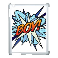 Comic Book Boy! Apple Ipad 3/4 Case (white) by ComicBookPOP