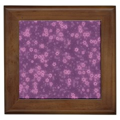 Snow Stars Lilac Framed Tiles by ImpressiveMoments