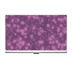 Snow Stars Lilac Business Card Holders by ImpressiveMoments