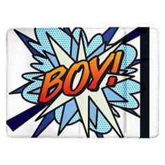 Comic Book Boy! Samsung Galaxy Tab Pro 12 2  Flip Case by ComicBookPOP