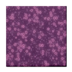 Snow Stars Lilac Face Towel by ImpressiveMoments