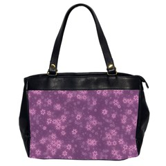 Snow Stars Lilac Office Handbags (2 Sides)  by ImpressiveMoments