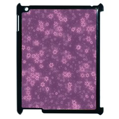 Snow Stars Lilac Apple Ipad 2 Case (black) by ImpressiveMoments