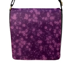 Snow Stars Lilac Flap Messenger Bag (l)  by ImpressiveMoments