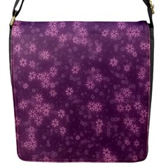 Snow Stars Lilac Flap Messenger Bag (s) by ImpressiveMoments