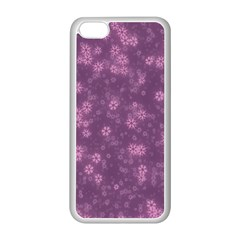 Snow Stars Lilac Apple Iphone 5c Seamless Case (white) by ImpressiveMoments