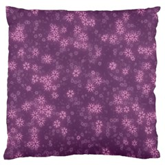 Snow Stars Lilac Standard Flano Cushion Cases (Two Sides)  by ImpressiveMoments