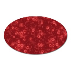 Snow Stars Red Oval Magnet by ImpressiveMoments