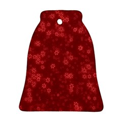 Snow Stars Red Bell Ornament (2 Sides) by ImpressiveMoments