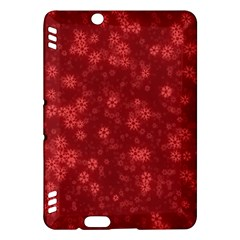 Snow Stars Red Kindle Fire HDX Hardshell Case by ImpressiveMoments