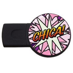 Comic Book Chica!  USB Flash Drive Round (1 GB)  by ComicBookPOP