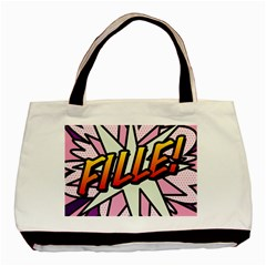 Comic Book Fille! Basic Tote Bag (Two Sides)  by ComicBookPOP