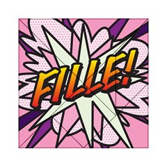 Comic Book Fille! Acrylic Tangram Puzzle (6  x 6 ) by ComicBookPOP