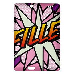 Comic Book Fille! Kindle Fire Hd (2013) Hardshell Case by ComicBookPOP