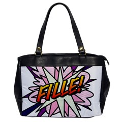 Comic Book Fille! Office Handbags by ComicBookPOP