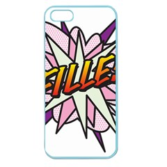 Comic Book Fille! Apple Seamless iPhone 5 Case (Color)