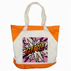 Comic Book Girl!  Accent Tote Bag  by ComicBookPOP