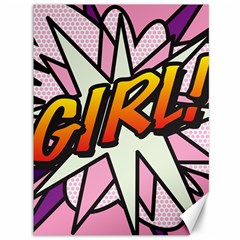 Comic Book Girl!  Canvas 36  x 48   by ComicBookPOP
