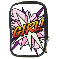 Comic Book Girl!  Compact Camera Cases by ComicBookPOP