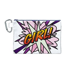 Comic Book Girl!  Canvas Cosmetic Bag (m) by ComicBookPOP