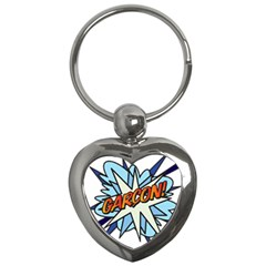 Comic Book Garcon! Key Chains (Heart)  by ComicBookPOP