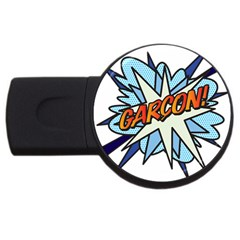 Comic Book Garcon! Usb Flash Drive Round (2 Gb)  by ComicBookPOP