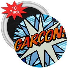 Comic Book Garcon! 3  Magnets (10 pack)  by ComicBookPOP