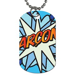 Comic Book Garcon! Dog Tag (one Side) by ComicBookPOP