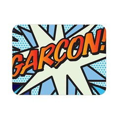Comic Book Garcon! Double Sided Flano Blanket (mini)  by ComicBookPOP