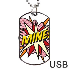 Comic Book Mine! Dog Tag Usb Flash (two Sides)  by ComicBookPOP