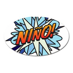 Comic Book Nino! Oval Magnet by ComicBookPOP
