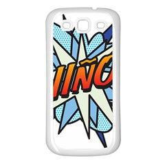 Comic Book Nino! Samsung Galaxy S3 Back Case (white) by ComicBookPOP