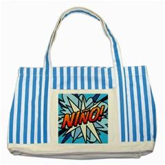 Comic Book Nino! Striped Blue Tote Bag  by ComicBookPOP