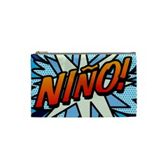 Comic Book Nino! Cosmetic Bag (small)  by ComicBookPOP
