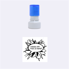 Hands Off Rubber Round Stamps (Small) by ComicBookPOP