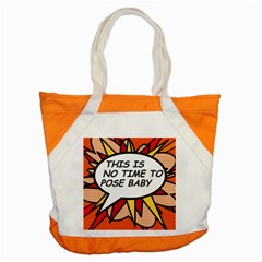 Comic Book This Is No Time To Pose Baby Accent Tote Bag  by ComicBookPOP