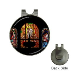 stained glass Jesus Golf Ball Marker Hat Clip by vintageretrostore