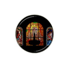 stained glass Jesus Hat Clip Ball Marker by vintageretrostore