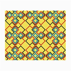 Shapes On A Yellow Background Small Glasses Cloth (2 Sides) by LalyLauraFLM