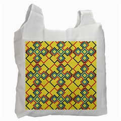 Shapes On A Yellow Background Recycle Bag (one Side) by LalyLauraFLM