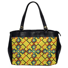 Shapes on a yellow background Oversize Office Handbag by LalyLauraFLM
