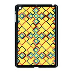 Shapes On A Yellow Background Apple Ipad Mini Case (black) by LalyLauraFLM