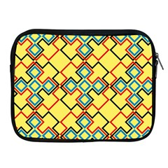 Shapes On A Yellow Background Apple Ipad 2/3/4 Zipper Case by LalyLauraFLM